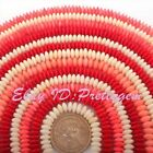 4x7mm Natural Rondelle Coral Gemstone Beads For DIY Jewelry Making Strand 15""