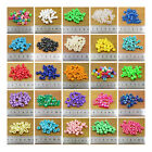 100 PONY HAIR BARREL ACRYLIC BEAD *2 TYPES* *33 COLOURS* HAIR BRAIDING JEWELLERY