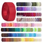 "10 Meters 3/4""20mm Grosgrain Ribbon Craft Hair BowWedding Decor DIY Lots BBRN28"