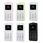 Ultra Thin AIEK C6 1.0 inch Card Pocket Mini Mobile Cellphone Alarm wholesale