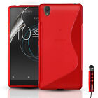SLIM SILICONE GEL CASE COVER & SCREEN PROTECTOR FOR SONY XPERIA L1 (2017)