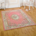 LOTUS PREMIUM SMALL- X LARGE PINK SOFT CHUNKY THICK LUXURY 100% WOOL CHINESE RUG