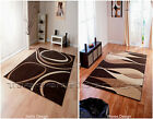 MEDIUM - EXTRA LARGE DARK CHOCOLATE BROWN BEIGE SWIRL OR WAVES MODERN RUG SALE