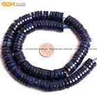 Dyed Lapis Lazuli heishi Roundelle Stone Spacer Gemstone Bead Jewelry Making 15""