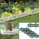 "6pk Garden 24"" Plastic Picket Fence Borders Outdoor Herbs Vegetables Edging 12ft"