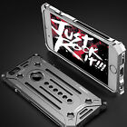 For iPhone 7/ 8 Plus/ X Luxury Shockproof Bumper Armor Metal Aluminum Case Cover