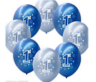 """20pcs Blue Boy's 1st 2nd Birthday Party 11"""" Pearlised Latex Printed Balloons UK"""