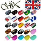 Salon Quality Professional NAIL WRAPS Foils Stickers Vinyl Toe Finger Decal UK 6