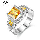 White Gold Color Rings  Vintage Jewelry Luxury Women Rings For Wedding H035