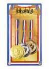 Gold Silver Bronze Plastic Medals School Sports Day Olympics Packs of 5/10/15/20