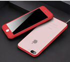 360° Luxury Thin Dustproof Rubber Phone Case Cover For iPhone 6 6s 7 Plus Matte