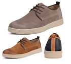 New Mens Round Toe Suede Lace Up Work Flats Leisure Shoes Size 6 7 8 9 10 11