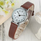 Brief Leather Band Women Lady Analog Quartz Wrist Watch Gifts Bracelet Watches image