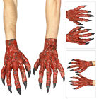 Smiffys Devil Demon Latex Hands Fancy Dress Halloween Costume Accessory Outfit