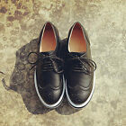 Casual Womens Lace Up Wing Tip Flats Brogues Oxfords Chic Sneakers British Hot