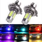 1 Pair H4 COB LED 6000K Car Auto Fog Light Lamp Bulbs Headlight Super Bright