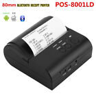 80mm Bluetooth Wireless Thermal Receipt Photo Printer For iOS Andriod Windows