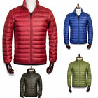 Mens winter down jacket hooded stand collar business Insulated outerwear coat XL