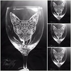 CAT SIAMESE engraved, etched set 4 glasses, gift, wedding, personalised free