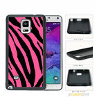 Pink Black Zebra Pattern - Galaxy Note 2 3 4 5 Case Cover