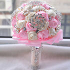 Elegant Bridal Bouquet Accessories Bridesmaid Rhinestone Pearl Party Supplies
