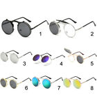 Fashion Retro Vintage Gothic Round Flip Up Sunglasses Steampunk Glasses New