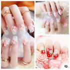24pcs Fashion 3D Bride Wedding False Artificial Fake Nails Tips French NEW BL