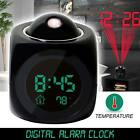 Multifunction LCD Talking Projection Alarm Clock Time & Temp Display 2017 New
