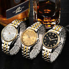 Mens Skeleton Automatic Mechanical Wristwatch Stainless steel Analog Date Watch