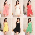 Women beach summer Chiffon dress sundress Vestido Sleeveless girl Dress women