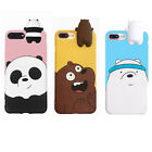 3D Cartoon Animals Cute We Bare Bears Soft Silicone Case Cover Skin For iPhone 8
