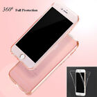360° Full Coverage Transparent Silicone Case Cover for Apple iPhone 6 6s Plus
