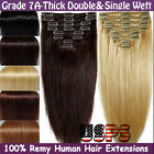 weft hair extensions online - 100% Luxury Clip in Remy Human Hair Extensions Real Thick Double Weft Full Head