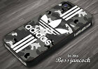 Adidas Grey Camo Stripes Cover For iPhone 5/5s/SE/6/6s/6+/6s+/7/7+ Samsung Case