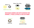 iphone rear glass replacement - Lot Rear Back Glass Camera Lens with Adhesive Replacement for iPhone X 7 8 Plus