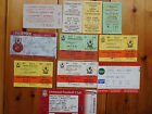 Used Liverpool ticket stubs / passes - 1976 to 2011
