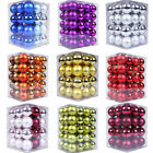 48PCS Christmas Tree Xmas Balls Decorations Baubles Party Wedding Ornament