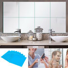 9/16/32pcs Self Adhesive Mirror Tiles Kitchen Wall Sticker Stick on 0.1/mm Decor
