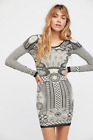 NEW Free People Intimately Now You See Me Bodycon Dress Ivory Sz M/L 102.18