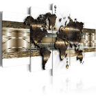 5 Panels World Map Large Wall Print Pictures Canvas Wall Art Prints Unframed