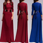 Formal Ladies Long Chiffon Evening Party Cocktail Dress Wedding Ball Gown Dress