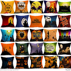 Home Decor Cotton Linen Throw Pillow Case Halloween Sofa Waist Cushion Cover NEW