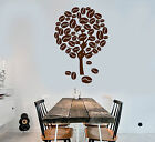 Vinyl Wall Decal Coffee Tree Type Kitchen Decoration Stickers (1637ig)
