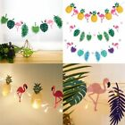 Hawaiian Tropical Flamingo Pineapple Banner Leaves Garland Bunting Summer Party