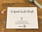 Personalised Wish Bracelet good luck exam test performance gift card