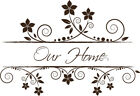 Our Home Vintage Style Vinyl Wall Home Decor Decal Quote Inspirational Adorable