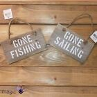 Gisela Graham Wooden Fisherman Nautical Hanging Wall Plaque Rope Decoration Gift