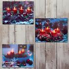 40cm Christmas Battery Operated Flicker LED Light Up Candle Xmas Canvas Picture
