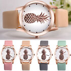 Women Girls Casual Watch Ladies Stainless Steel Faux Leather Analog Quartz Watch