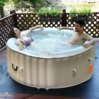 Portable 4 Persons Goplus Inflatable Bubble Massage Spa Pool Hot Bathtub
